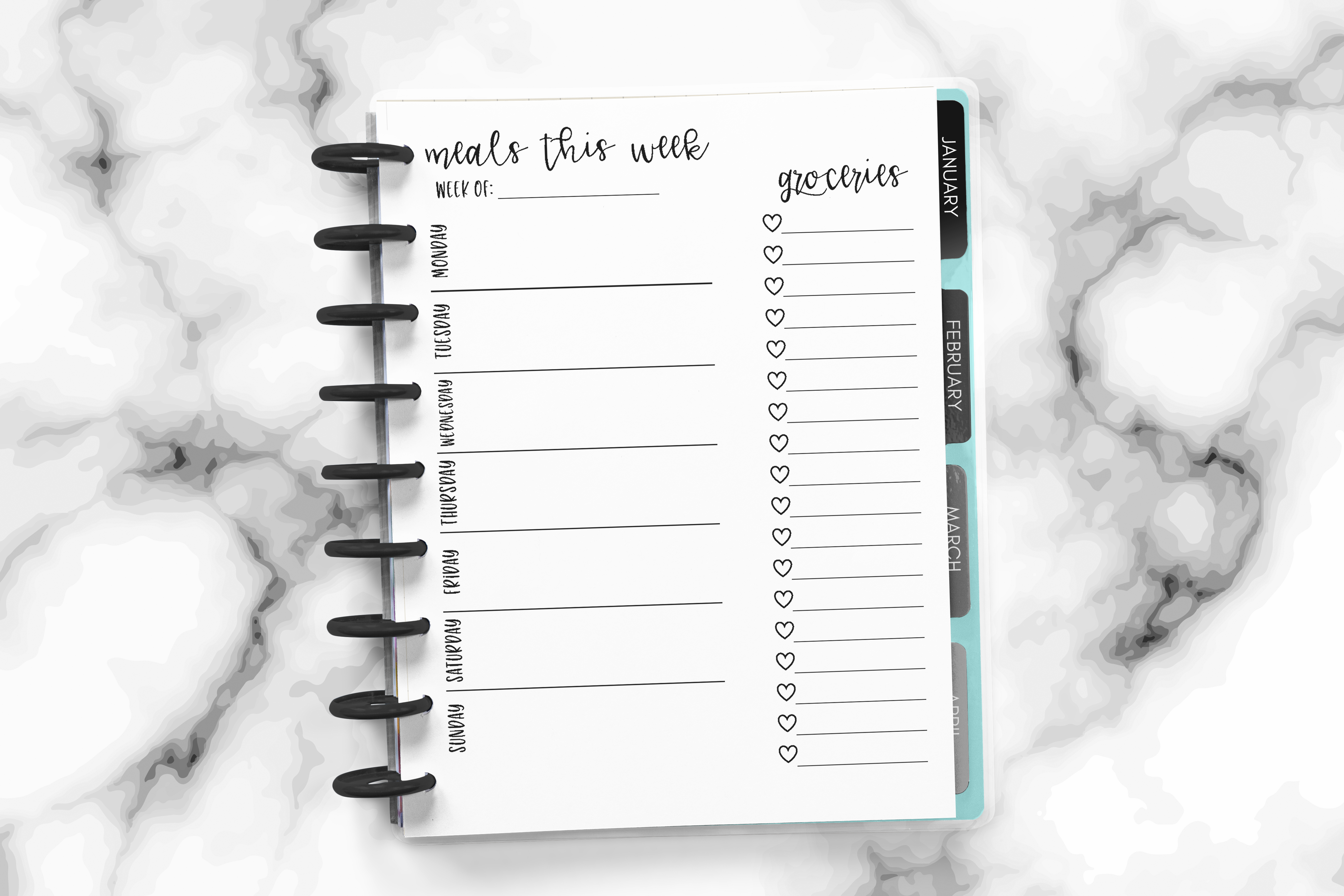 Happy Planner Meal Planner  | Free Printable