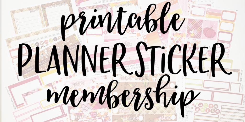 printable planner sticker membership