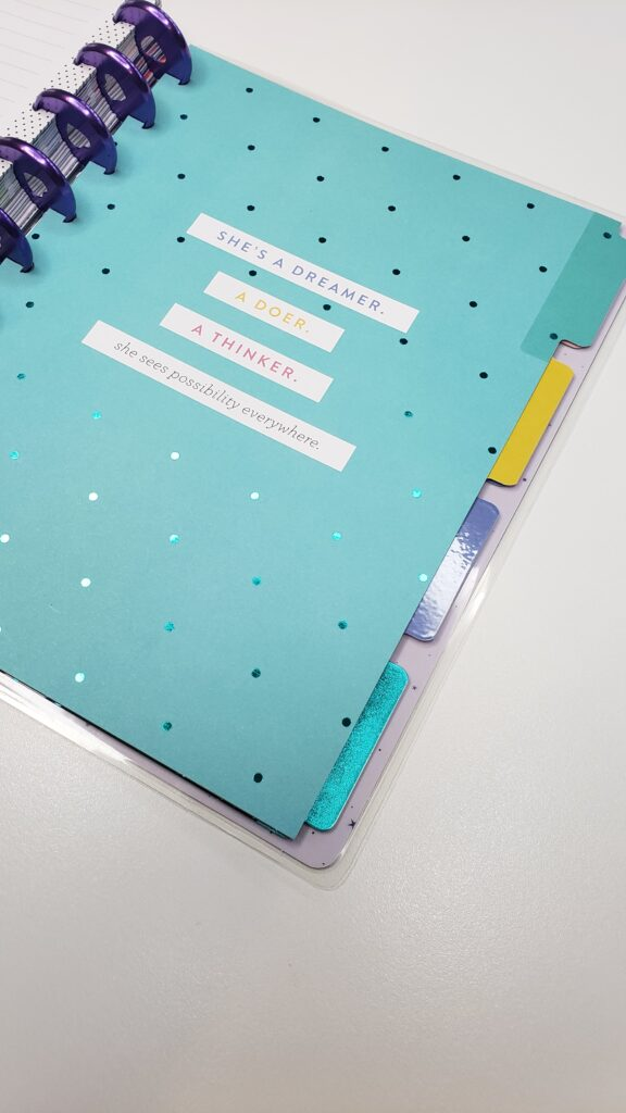 add sections to Happy Planners