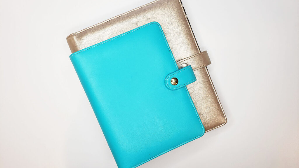personal size and a5 size planner binders