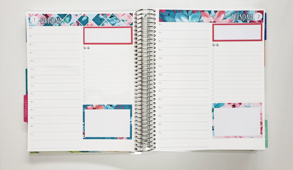 Daily Duo planner with stickers