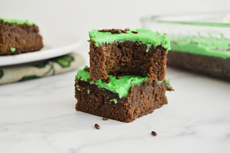St. Patrick's Day Brownies