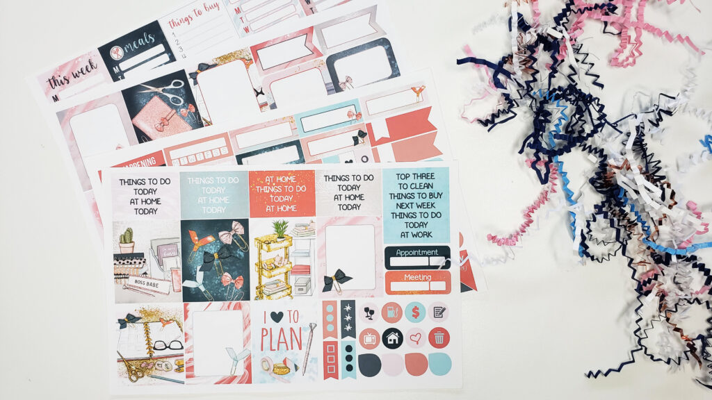 planner envy box stickers