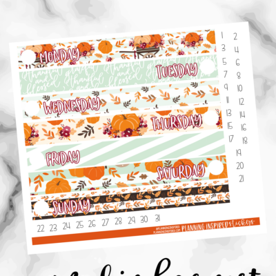 Free Printable Fall Daily Duo Stickers